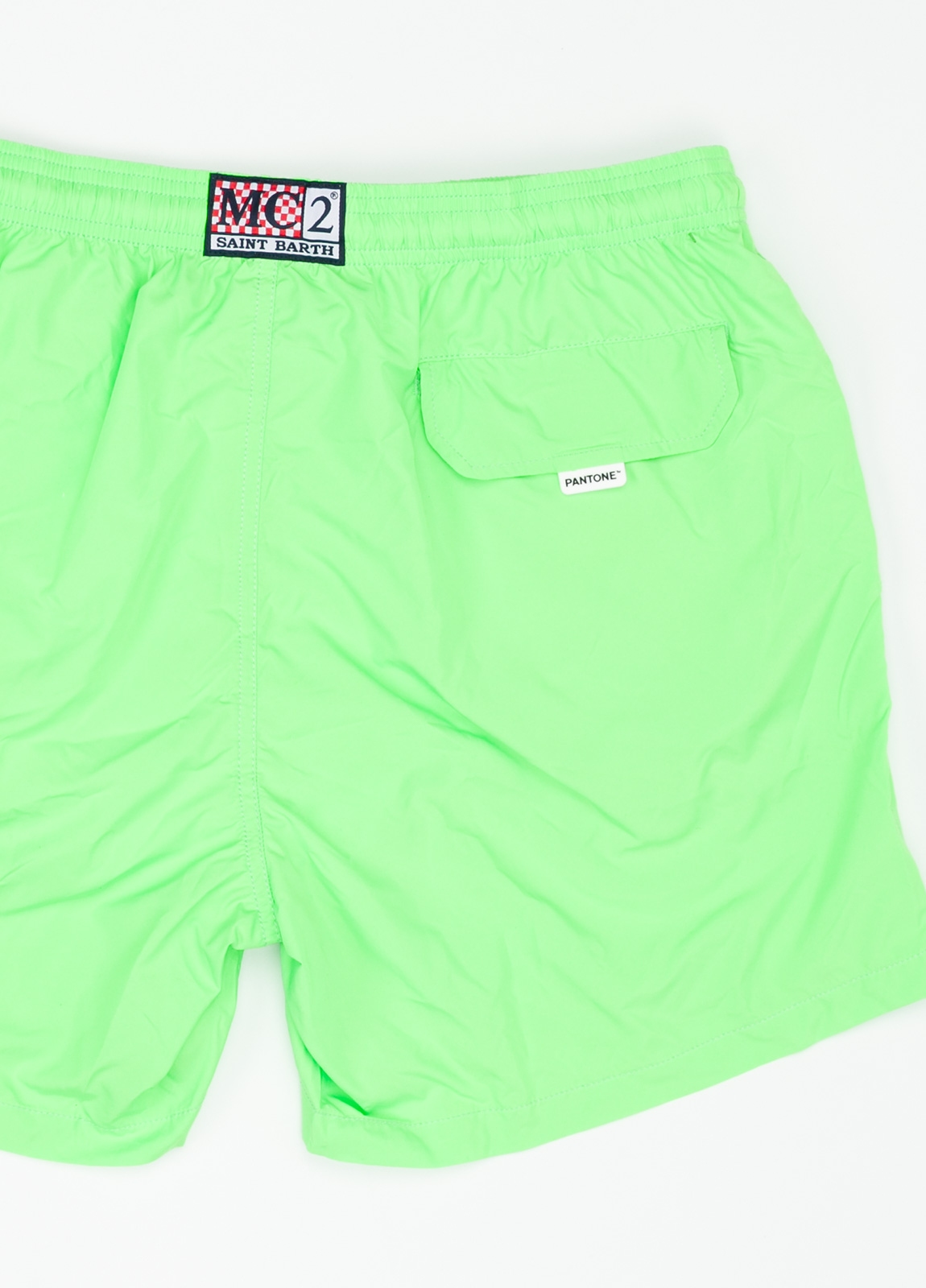 Bañador liso modelo SUPREME color verde, microfibra. - Ítem1