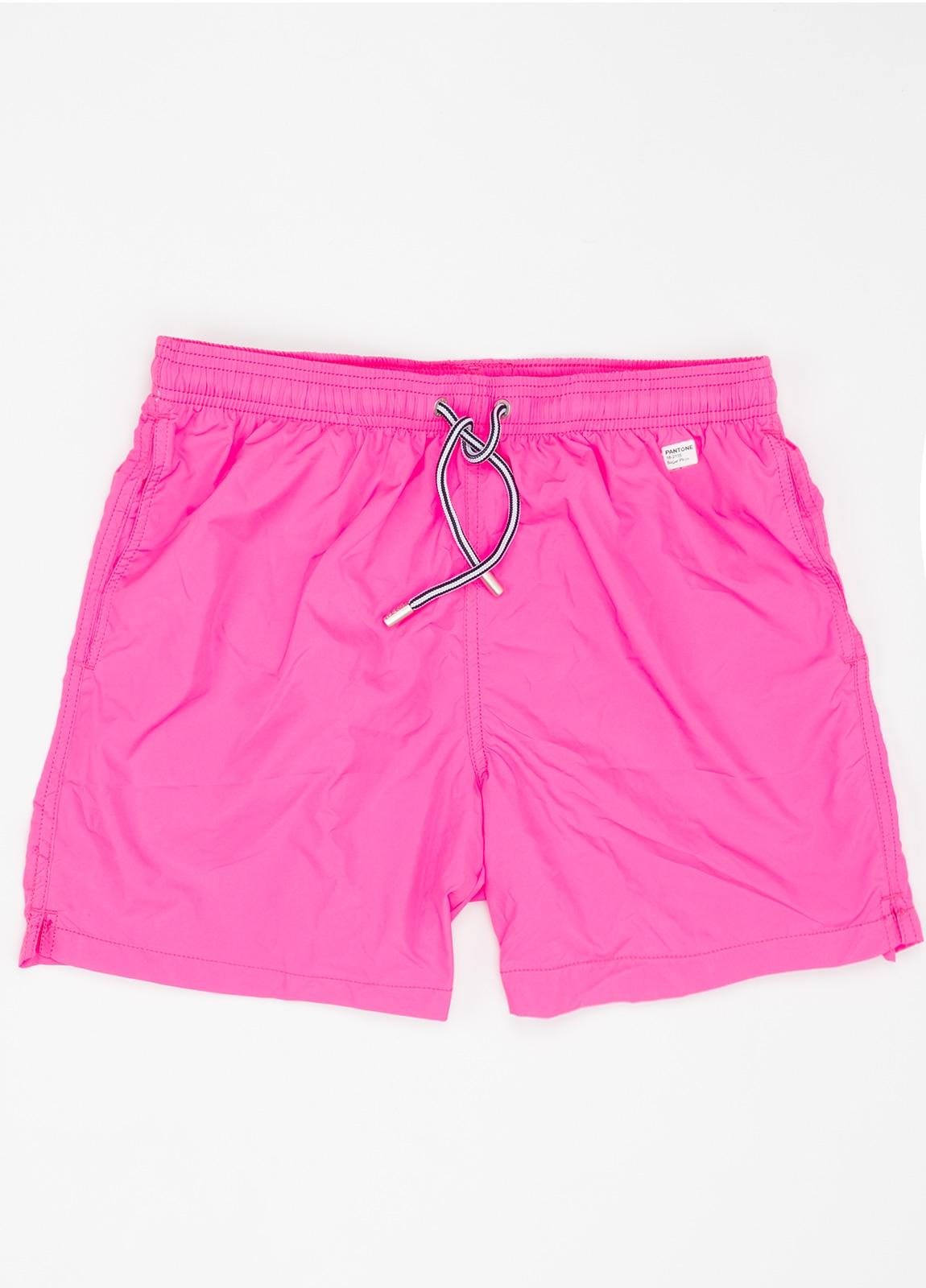Bañador liso modelo SUPREME color rosa, microfibra.