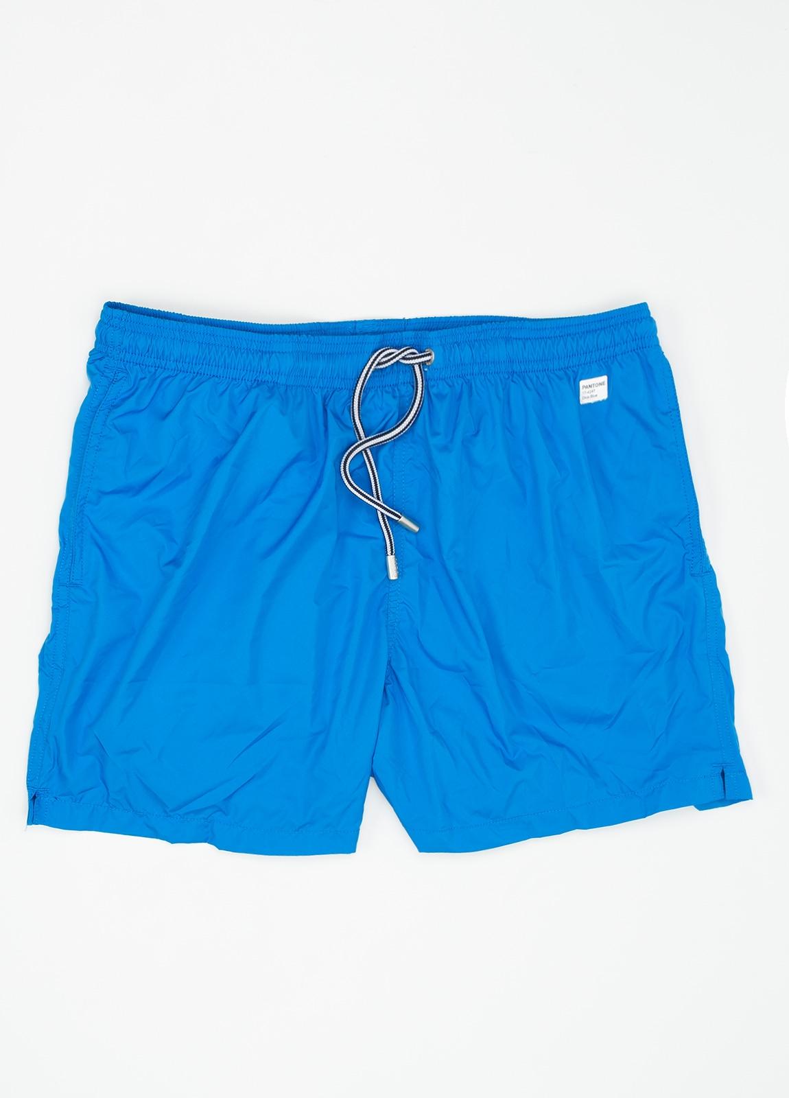 Bañador liso modelo SUPREME color azul, microfibra.
