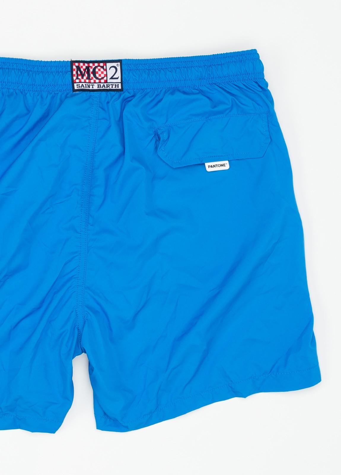 Bañador liso modelo SUPREME color azul, microfibra. - Ítem1