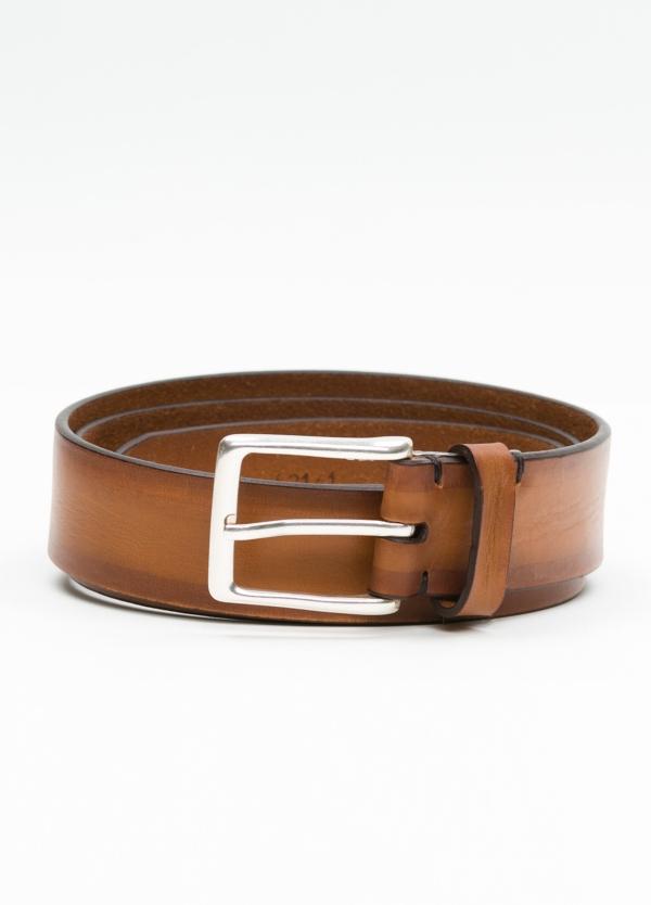 Cinturón Sport piel lisa color cognac, 100% Piel.