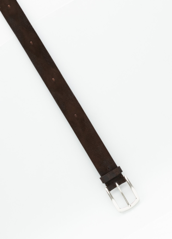 Cinturón Sport grabado color marrón, 100% Serraje. - Ítem1
