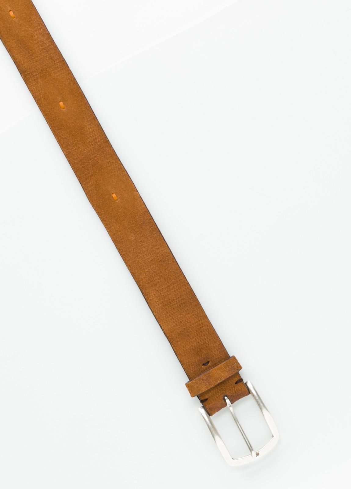 Cinturón Sport grabado color cognac, 100% Serraje. - Ítem1