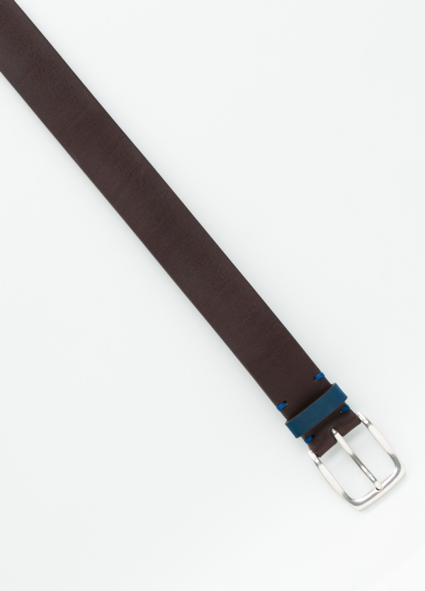 Cinturón Sport piel lisa color marrón, 100% Piel. - Ítem1