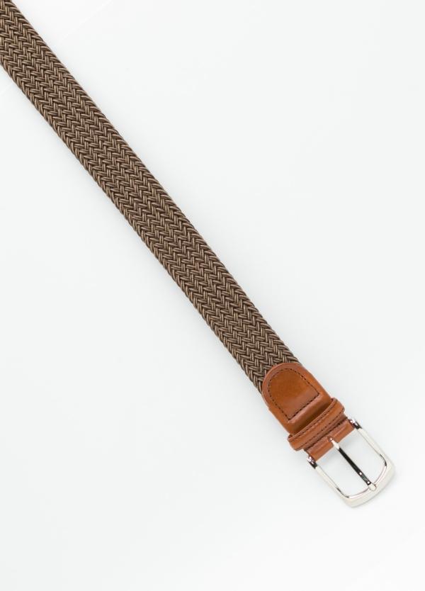 Cinturón Sport trenzado color marrón. 100% Rayón. - Ítem1