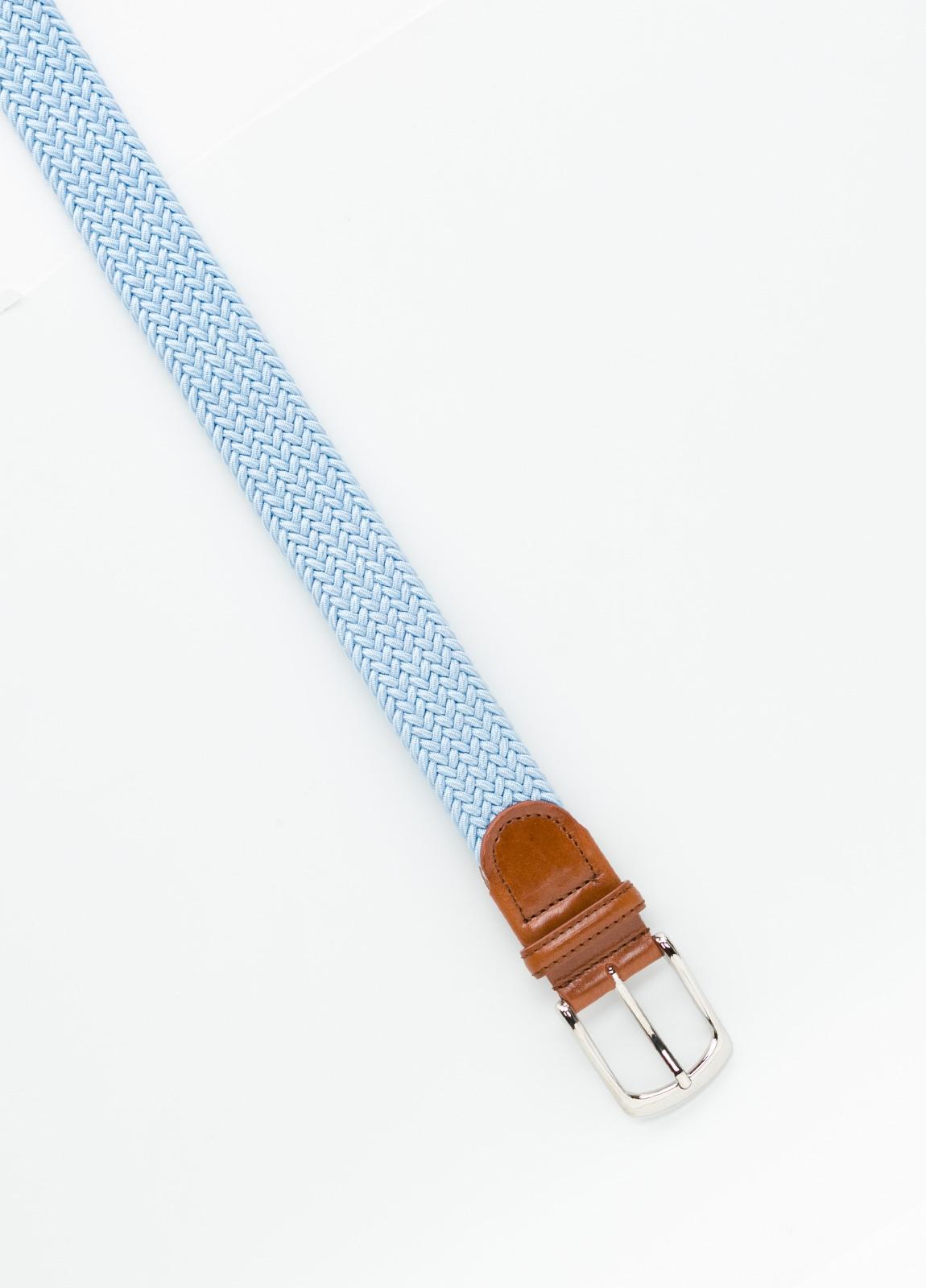 Cinturón Sport trenzado color celeste. 100% Rayón. - Ítem1