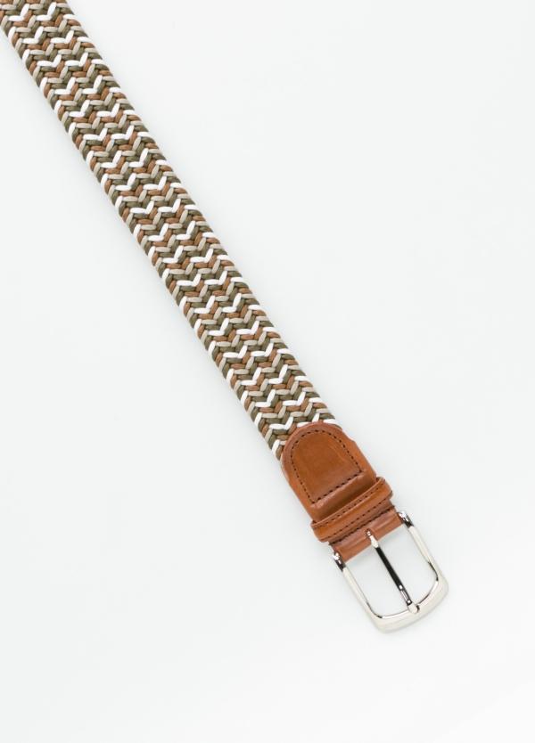 Cinturón Sport trenzado color marrón. Algodón. - Ítem1