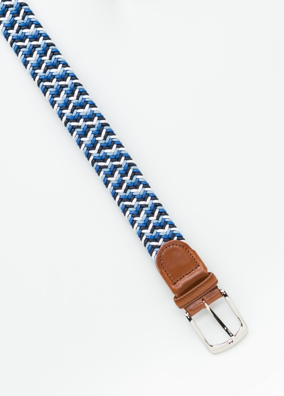 Cinturón Sport trenzado color azul. Algodón. - Ítem1