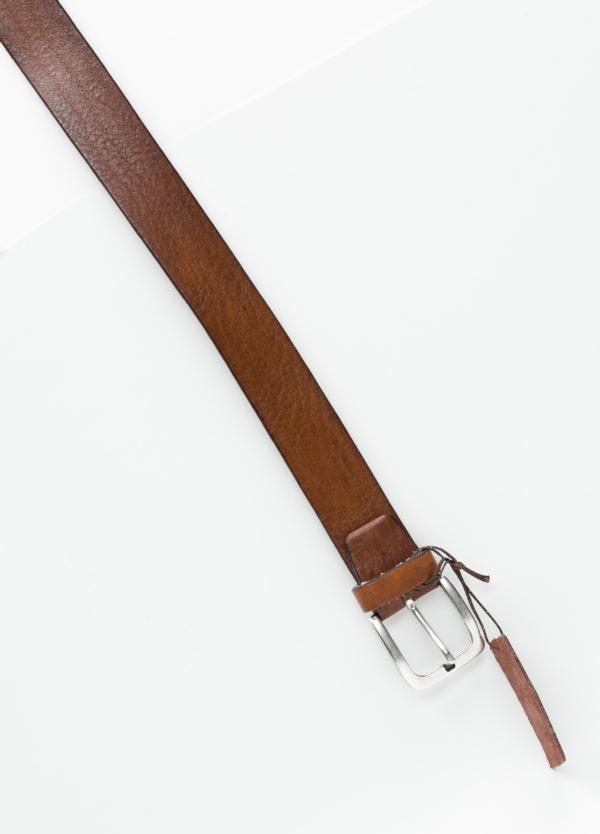 Cinturón sport piel lisa color marrón. 100% Piel. - Ítem1