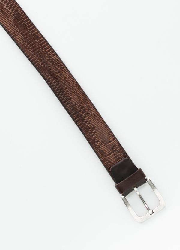 Cinturón sport piel grabada color marrón. 100% Piel. - Ítem1