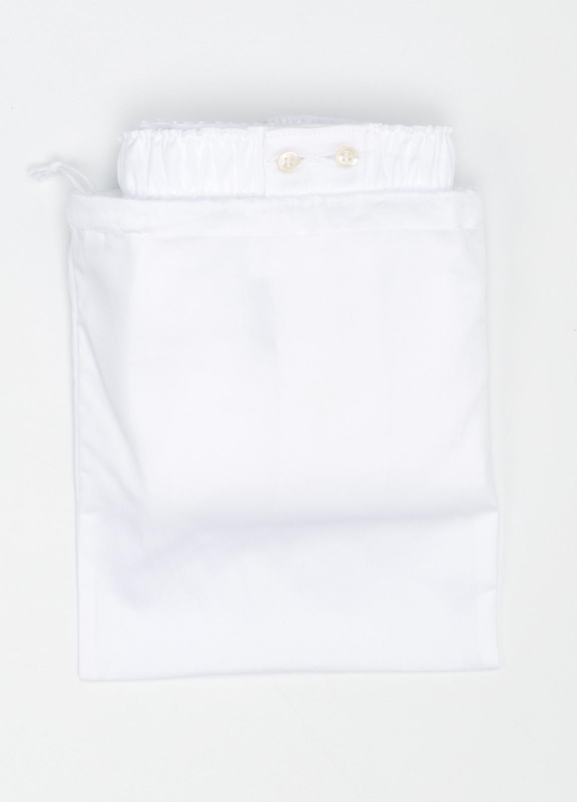 Boxer liso color blanco, 100% Algodón. Bolsa incluida del mismo tejido. - Ítem1