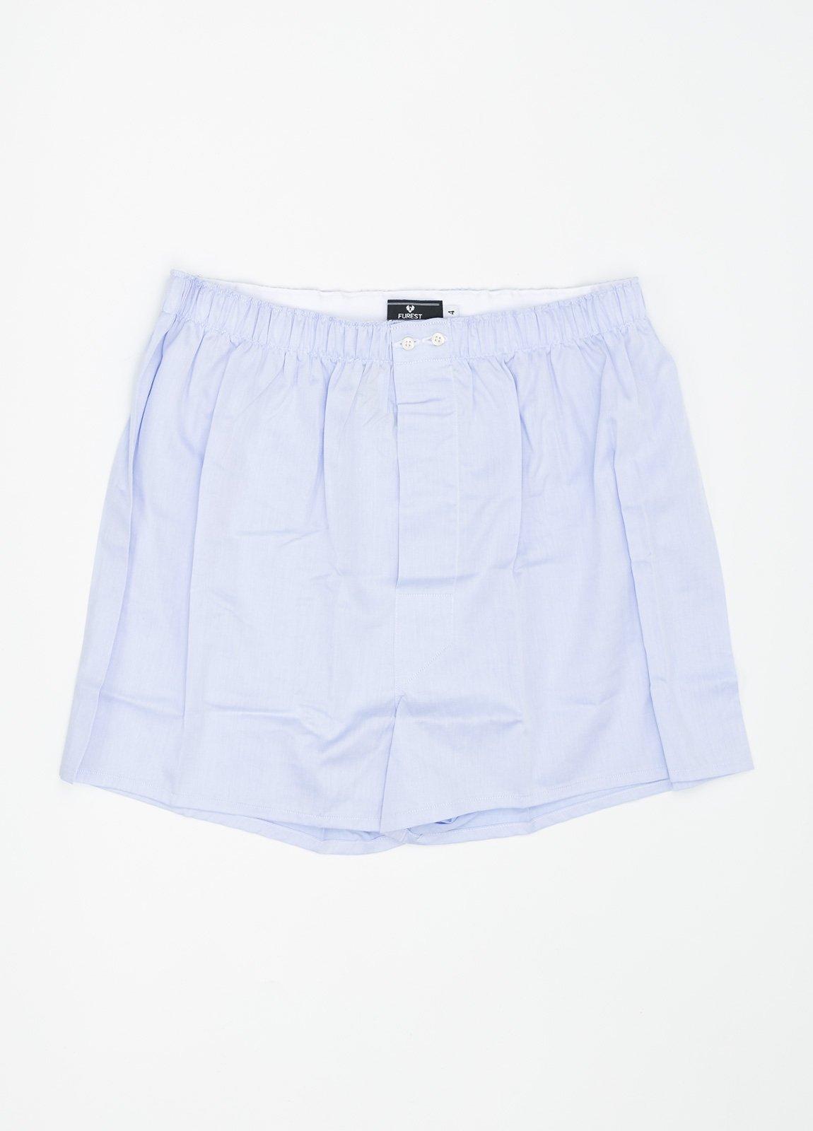 Boxer liso color azul celeste, 100% Algodón. Bolsa incluida del mismo tejido.