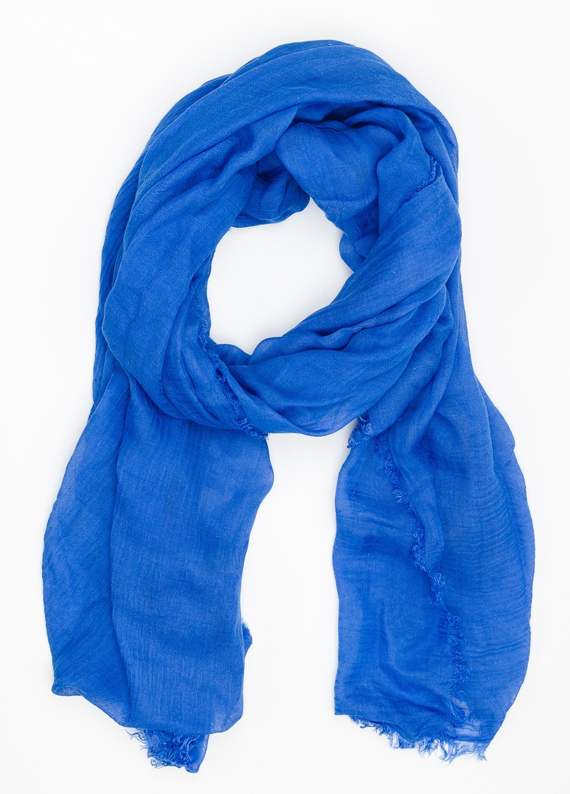 Foulard liso color azulón. Modelo 65 X 180 cm. 80% Modal 20% Seda Crepe.