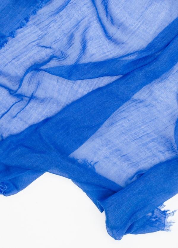Foulard liso color azulón. Modelo 65 X 180 cm. 80% Modal 20% Seda Crepe. - Ítem1