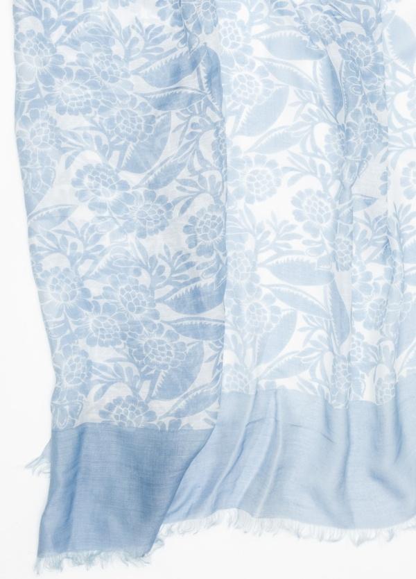 Foulard estampado color azul. Modelo 100 X 190 cm. 70% Modal 30% Seda. - Ítem1