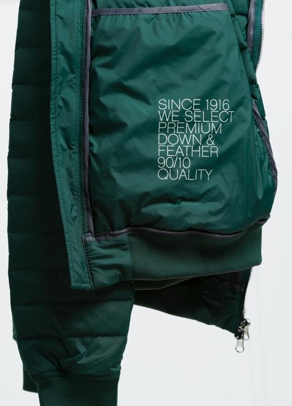 Chaqueta modelo LEON color verde, tejido técnico. - Ítem1