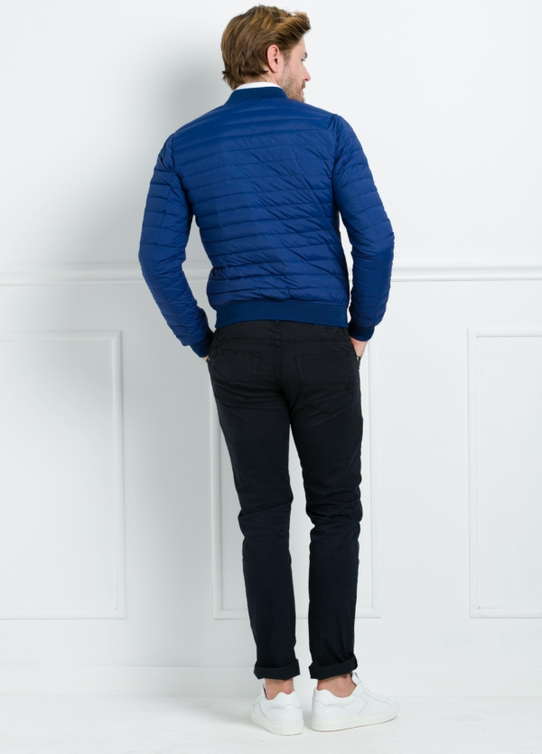 Chaqueta modelo LEON color azulón, tejido técnico. - Ítem3