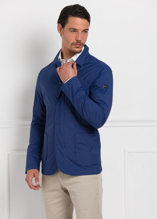 Chaqueta modelo MARVIN color azul marino, tejido técnico.