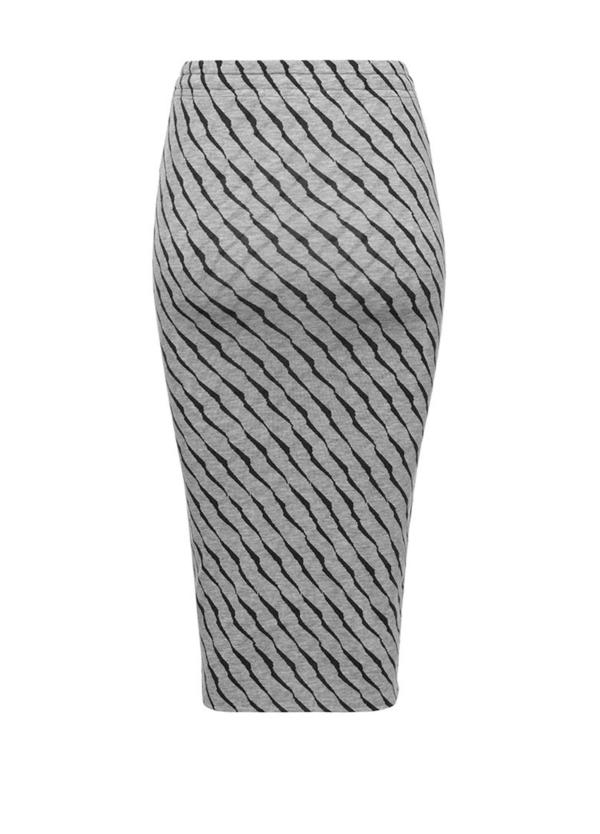 Falda tubo color gris con estampado animal print. 94% Lyocell 6% Elastáno. - Ítem2