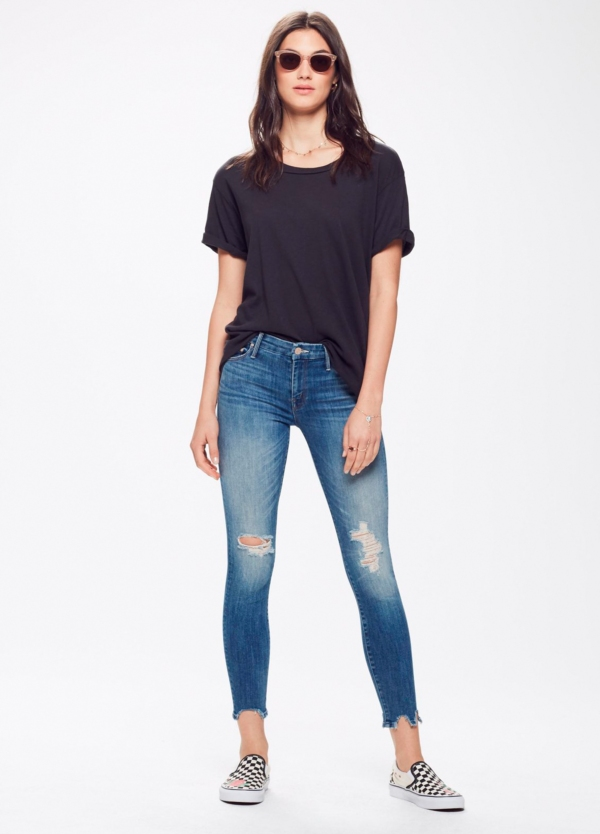 Tejano woman RIPPED KNEE JEANS color azul denim. 92% Algodón 6% Poliéster 2% Elastano. - Ítem3