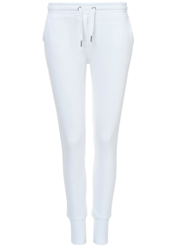 Pantalón jogging slim fit color blanco. 80% Algodón 20% Poliéster.