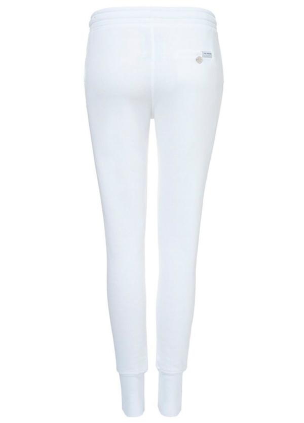 Pantalón jogging slim fit color blanco. 80% Algodón 20% Poliéster. - Ítem1