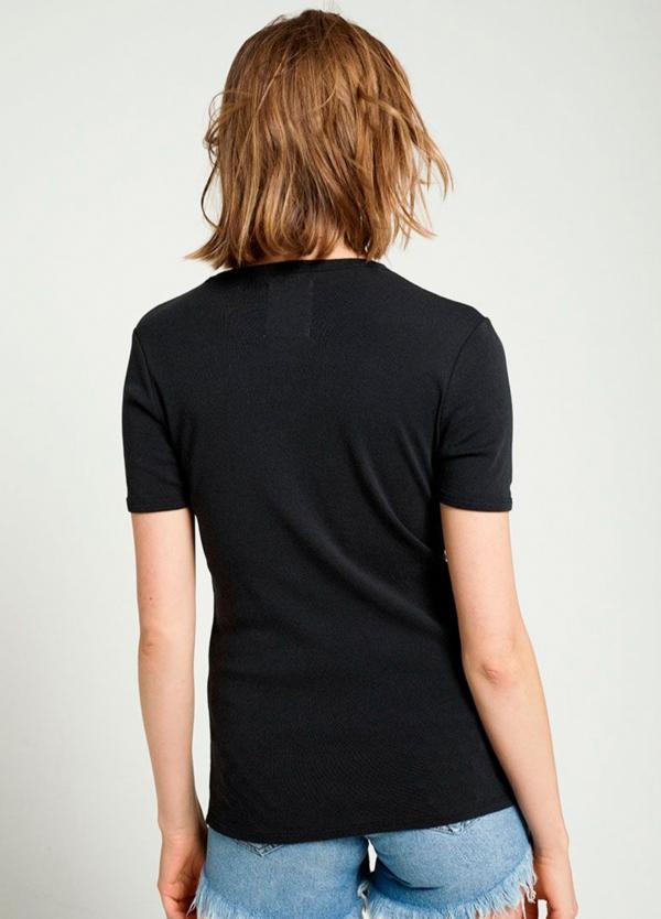 Camiseta manga corta color negro con estampado gráfico. 100% Algodón. - Ítem1