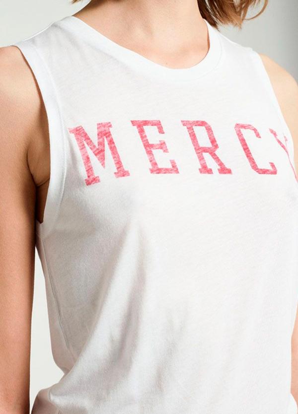 Camiseta sin mangas color blanco con estampado gráfico. 50% Algodón 50% Modal. - Ítem2