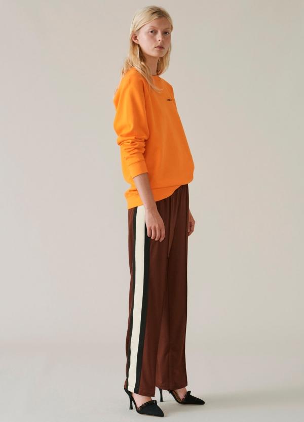 Sudadera cuello redondo color naranja. 100% Algodón. - Ítem3