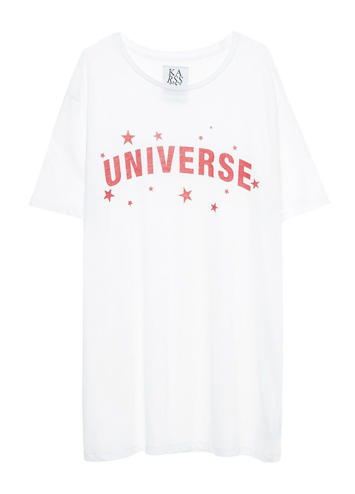 Camiseta manga corta color blanco con estampado gráfico. 50% Algodón 50% Modal. - Ítem1