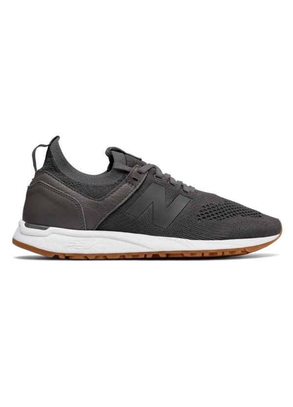 Sneaker woman MRL247 color gris oscuro, piel y malla.