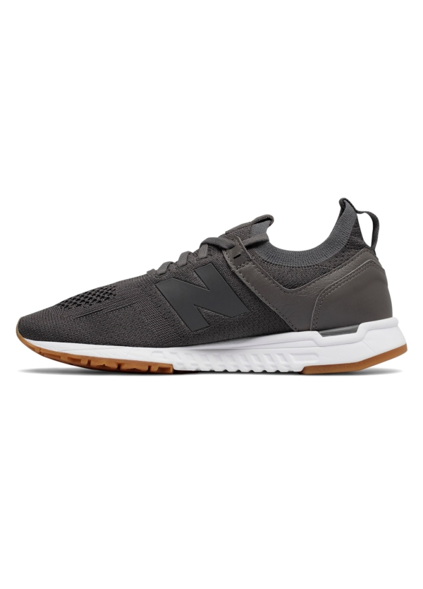 Sneaker woman MRL247 color gris oscuro, piel y malla. - Ítem3