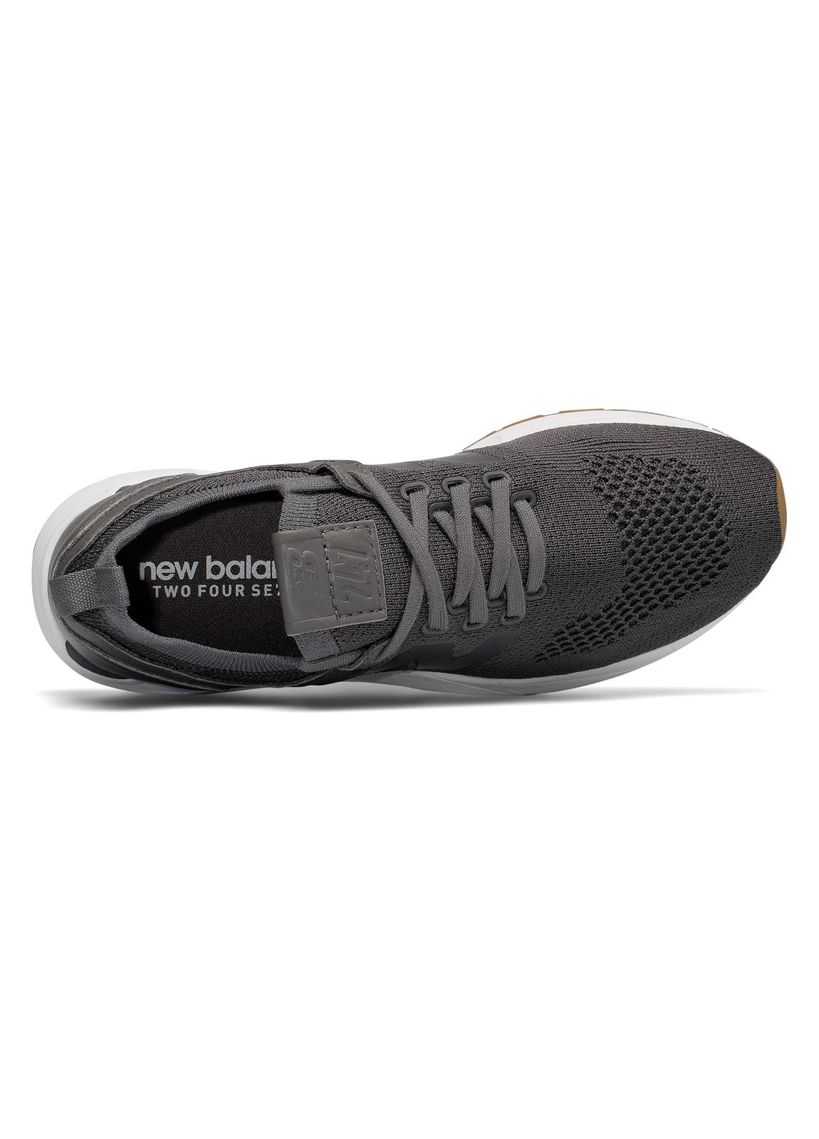 Sneaker woman MRL247 color gris oscuro, piel y malla. - Ítem1