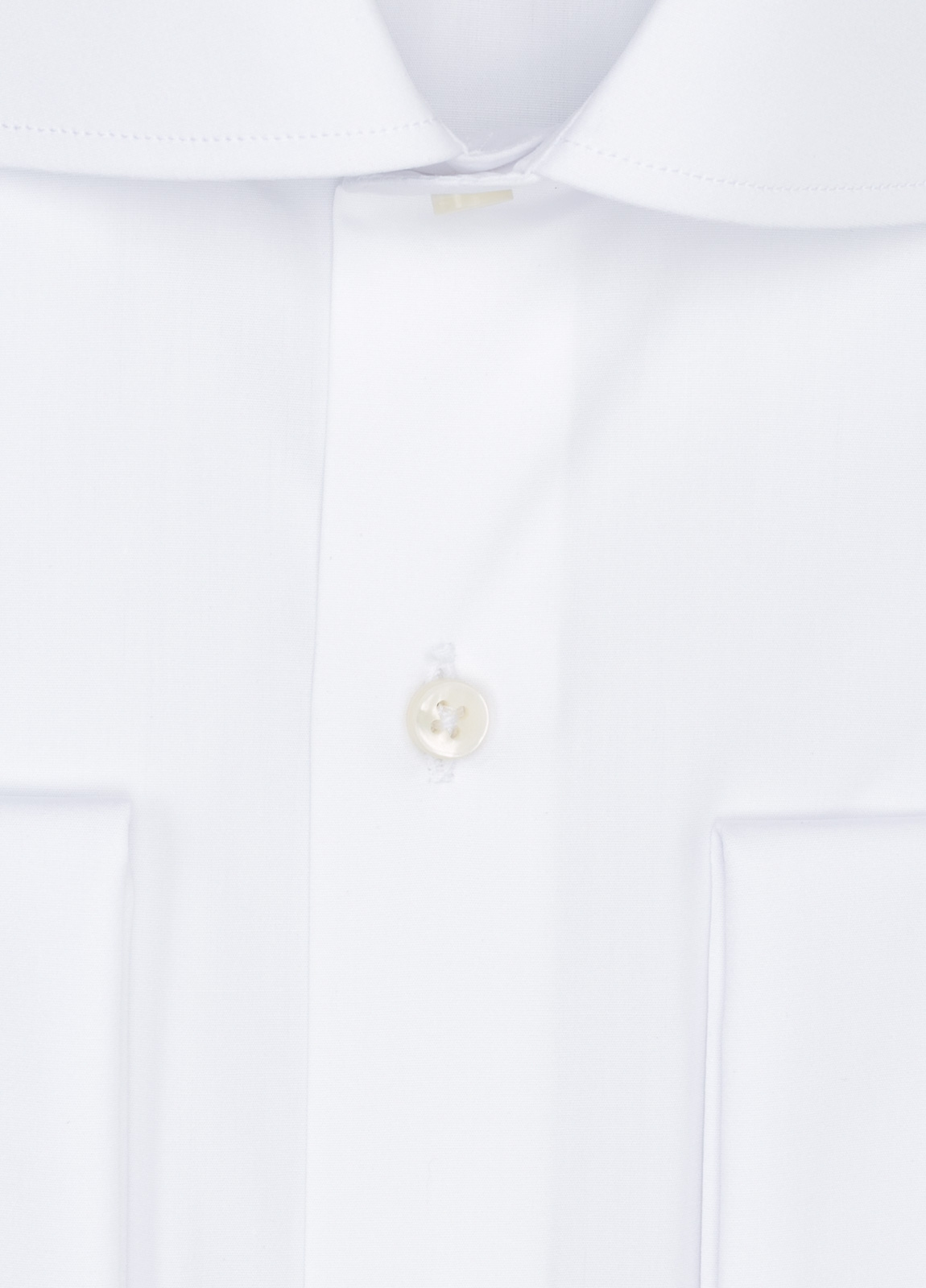 Camisa Formal Wear REGULAR FIT cuello italiano modelo TAILORED NAPOLI color blanco, 100% Algodón. - Ítem1