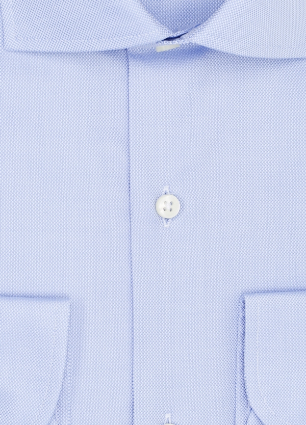 Camisa Formal Wear REGULAR FIT cuello italiano modelo TAILORED NAPOLI color azul, 100% Algodón. - Ítem1
