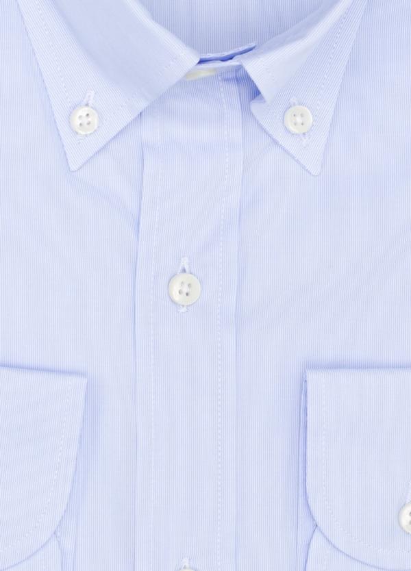 Camisa Formal Wear REGULAR FIT modelo BOTTON DOWN tejido pique color azul. 100% Algodón. - Ítem1