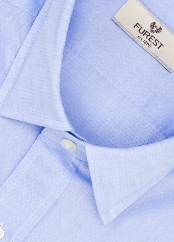 Camisa Leisure Wear SLIM FIT modelo PORTO microtextura color azul. 100% Algodón. - Ítem1