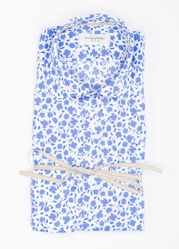 Camisa sport SLIM FIT con estampado floral color azul. 100% Algodón. - Ítem2