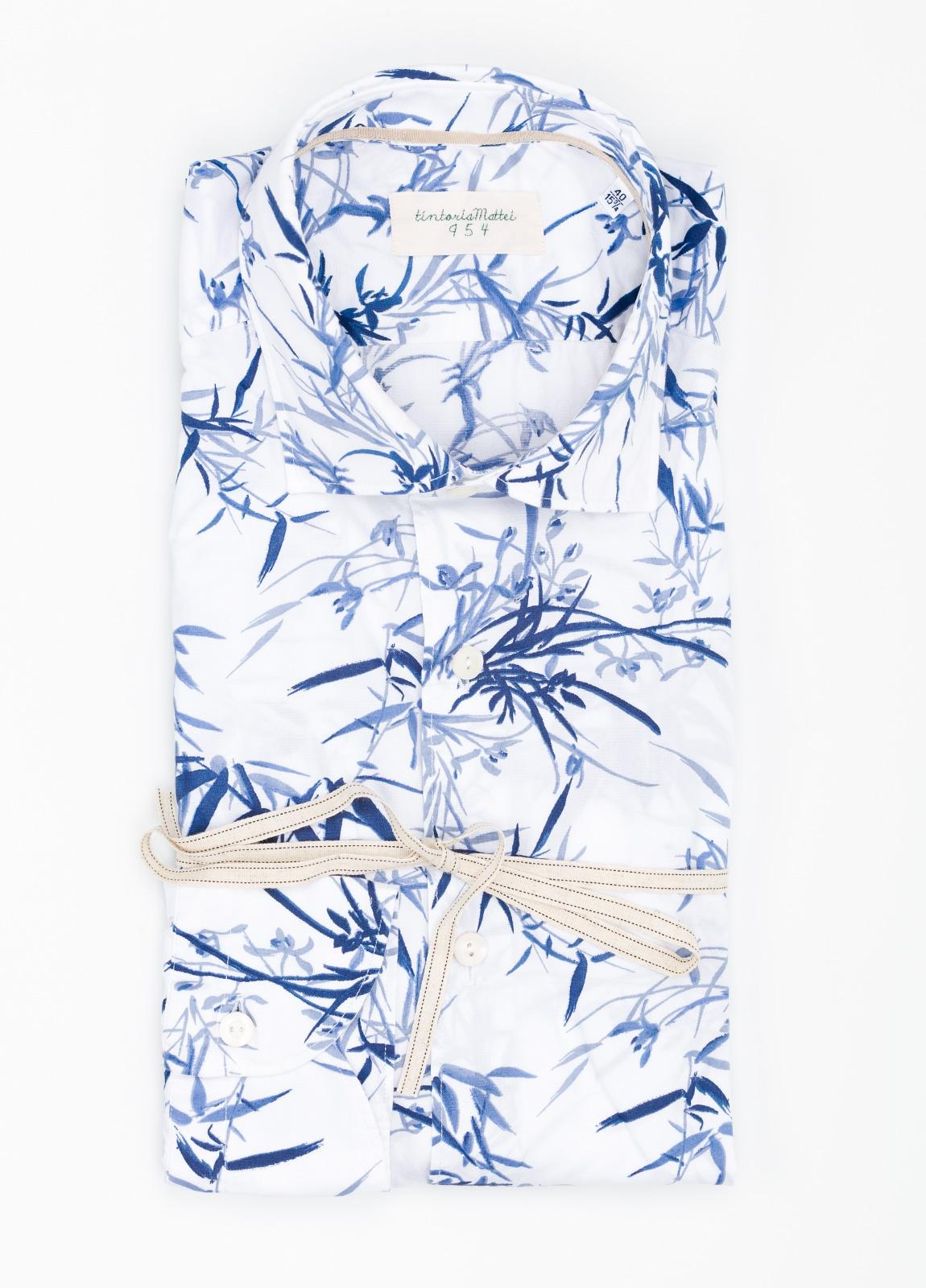 Camisa sport SLIM FIT con estampado floral color azul. 97% Algodón 3% elastano. - Ítem3