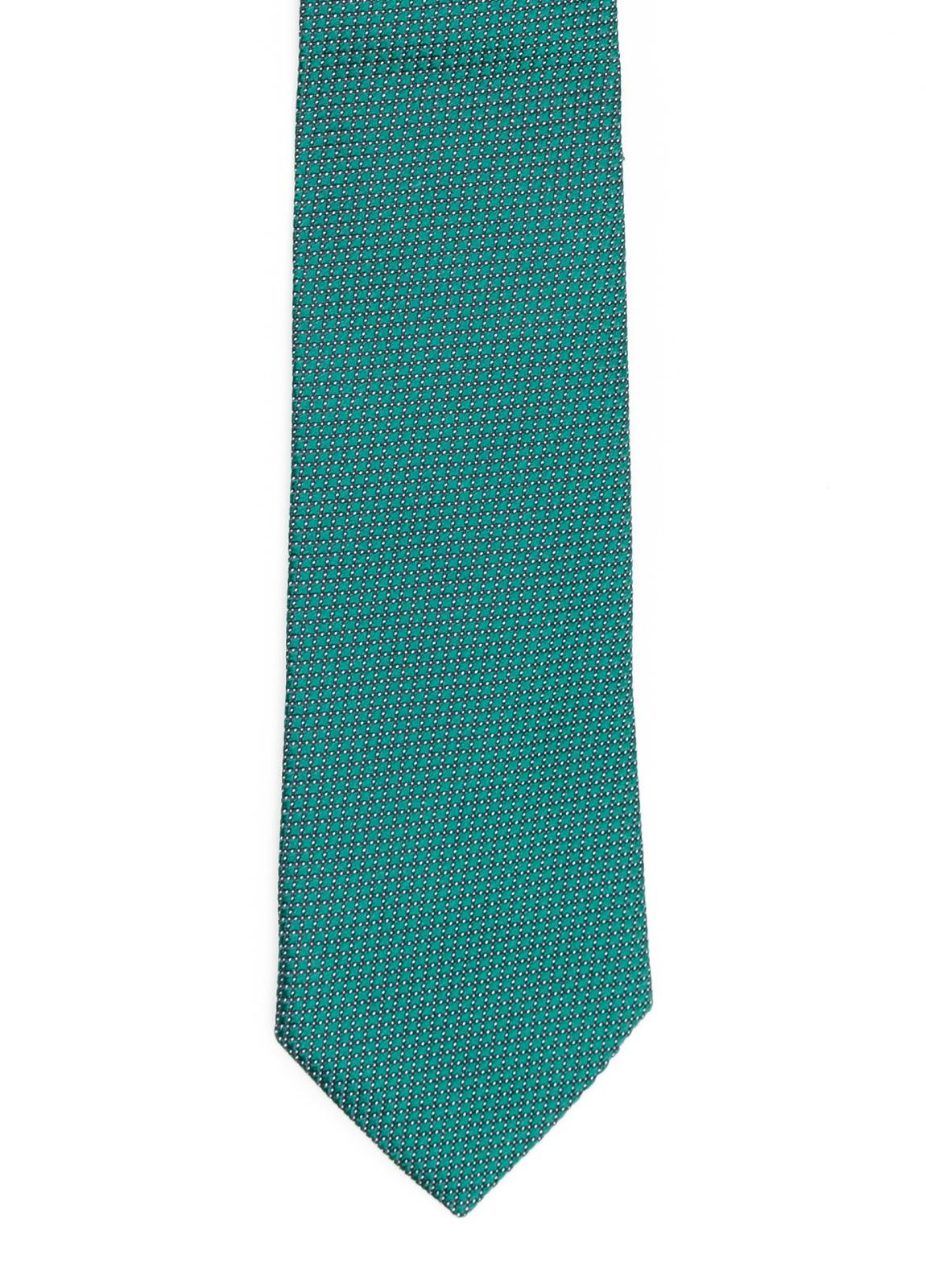Corbata Formal Wear microtextura color verde. Pala 7,5 cm. 100% Seda.
