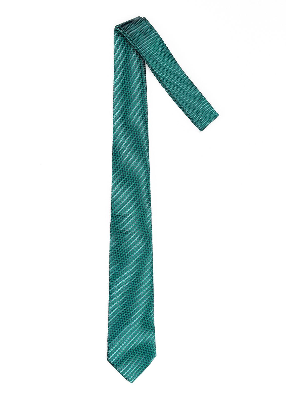 Corbata Formal Wear microtextura color verde. Pala 7,5 cm. 100% Seda. - Ítem1