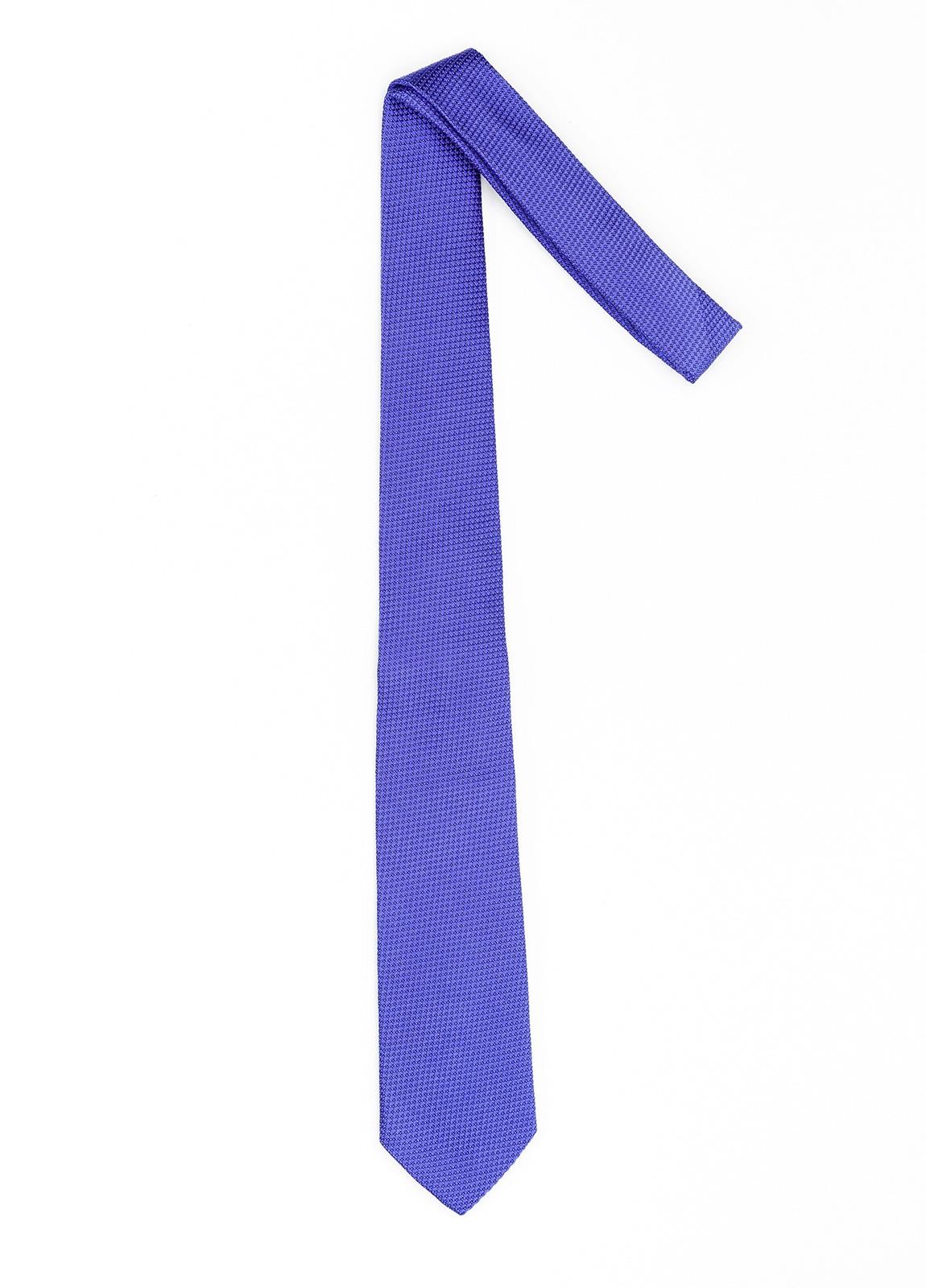 Corbata Formal Wear microtextura color azul. Pala 7,5 cm. 100% Seda. - Ítem1
