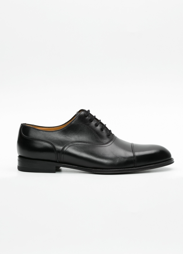 Zapato Formal Wear color negro con cordones, 100% Piel.