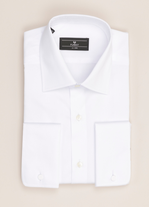 Camisa vestir FUREST COLECCIÓN SLIM FIT puño doble blanco