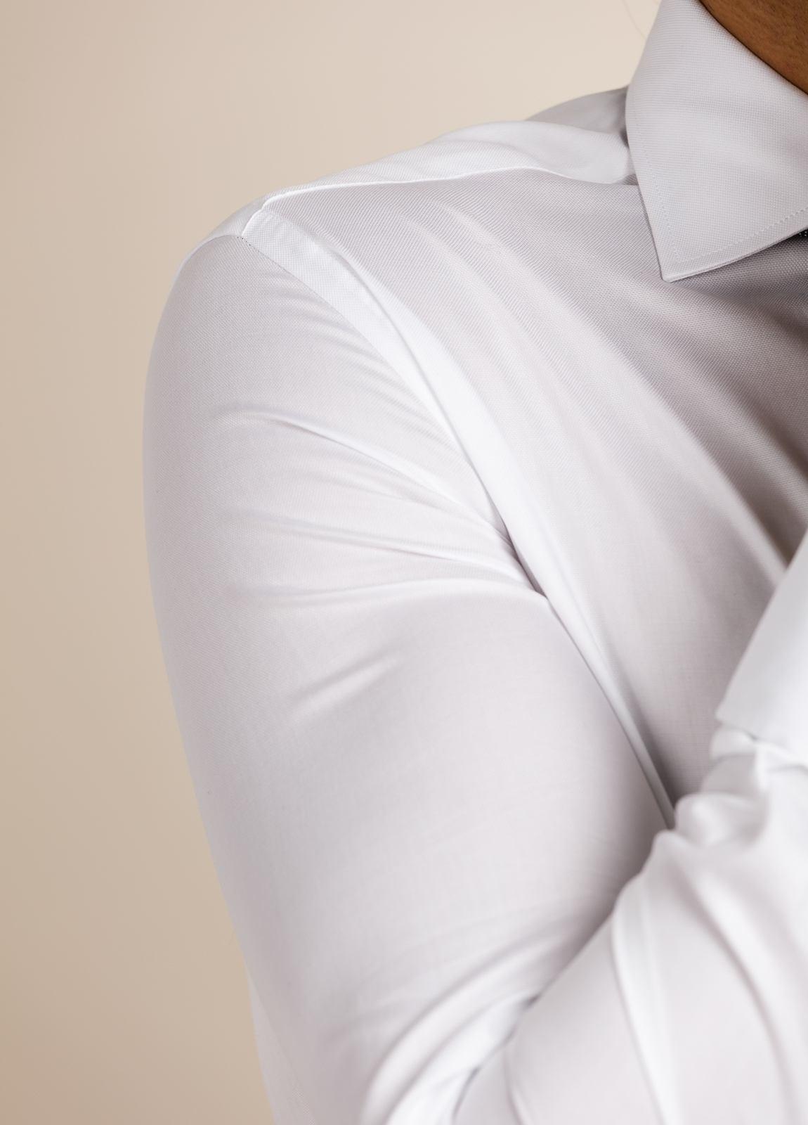 Camisa vestir FUREST COLECCIÓN Regular Fit Puño Doble blanco. - Ítem1