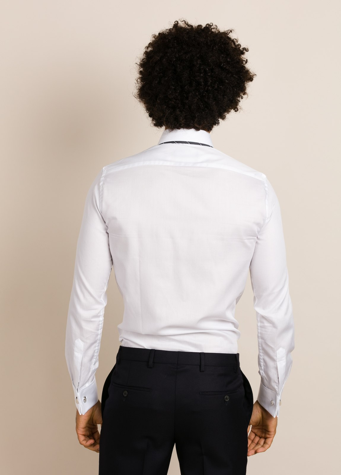 Camisa vestir FUREST COLECCIÓN Regular Fit Puño Doble blanco. - Ítem2
