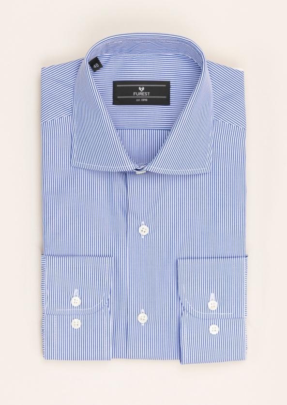 Camisa Vestir Furest Colección Regular Fit Rayas Azul