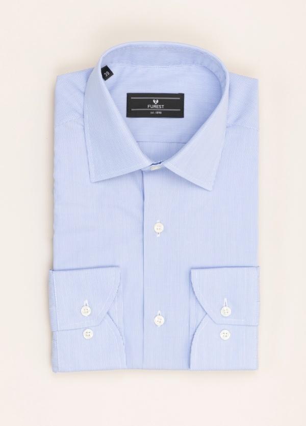 Camisa vestir FUREST COLECCIÓN SLIM FIT cuello italiano mil rayas azul