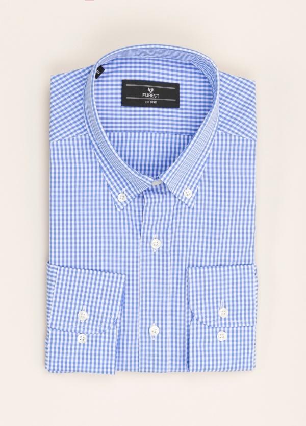 Camisa vestir FUREST COLECCIÓN REGULAR FIT cuadros azul