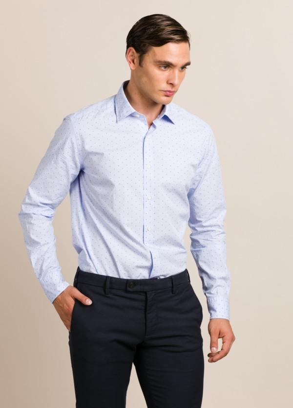 Camisa sport FUREST COLECCIÓN REGULAR FIT dibujo celeste